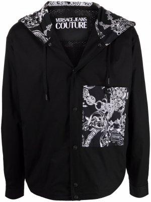 Куртка на молнии с принтом Versace Jeans Couture. Цвет: черный