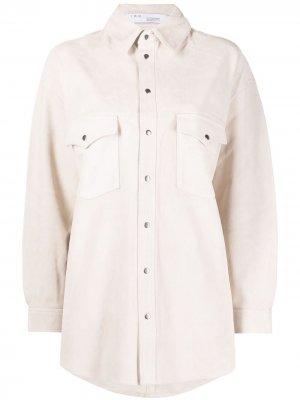 Рубашка с заклепками IRO. Цвет: белый