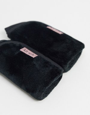 Черные полотенца из микрофибры для удаления макияжа -Бесцветный Kitsch