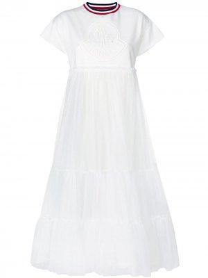 T-shirt tulle dress Moncler Gamme Rouge. Цвет: белый