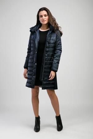 Женское итальянское демисезонное пальто Laura Bianca. Цвет: синий