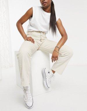 Прямые джинсы до щиколотки кремового цвета Levis-Кремовый Levi's