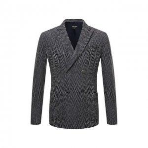 Пиджак из шерсти и кашемира Giorgio Armani. Цвет: серый