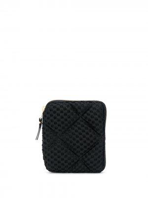 Фактурный кошелек Comme Des Garçons Wallet. Цвет: черный