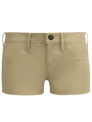 Кожаные шорты Jacob Cohen. Цвет: бежевый