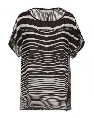 Блузка ANGELO MARANI. Цвет: темно-коричневый