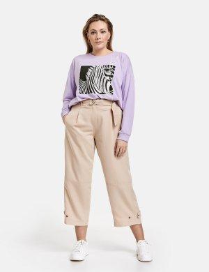 Спортивные брюки 3/4 с широкими штанинами SAMOON Gerry Weber. Цвет: cuban sand