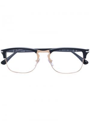 Очки в квадратной оправе Persol. Цвет: черный