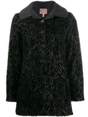 Куртка 1997-го года на пуговицах Romeo Gigli Pre-Owned. Цвет: черный