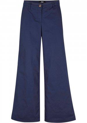Кюлоты-чиносы с карманами bonprix. Цвет: синий
