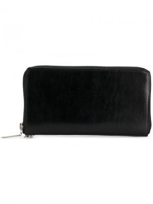 Бумажник на молнии Yohji Yamamoto. Цвет: чёрный