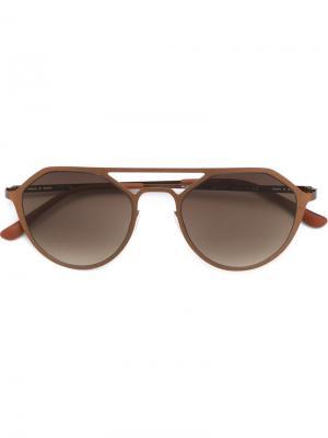 Солнцезащитные очки Italia Independent. Цвет: коричневый