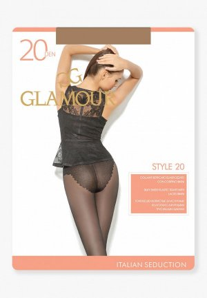 Колготки Glamour Style 20 DEN. Цвет: бежевый