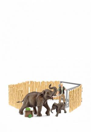 Набор игровой Schleich Уход за слоном. Цвет: разноцветный