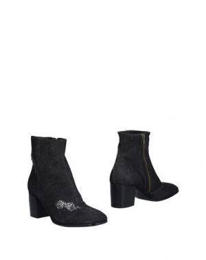 Полусапоги и высокие ботинки ALEXANDER HOTTO. Цвет: стальной серый