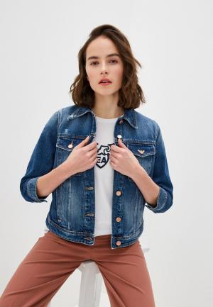 Куртка джинсовая Emporio Armani. Цвет: синий