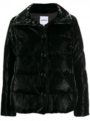 Куртка-пуховик на пуговицах Aspesi. Цвет: черный
