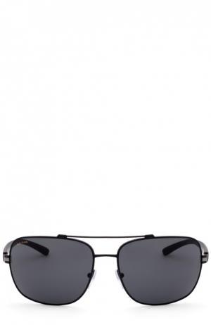 Солнцезащитные очки BVLGARI. Цвет: черный