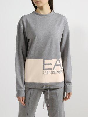 Спортивный костюм EA7 Emporio Armani. Цвет: seryy
