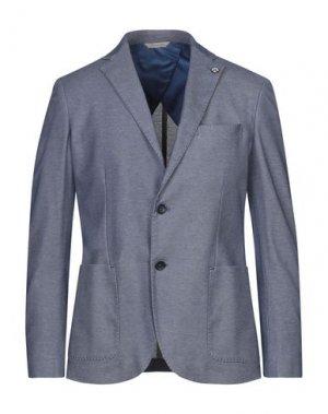 Пиджак ALESSANDRO GILLES. Цвет: пастельно-синий