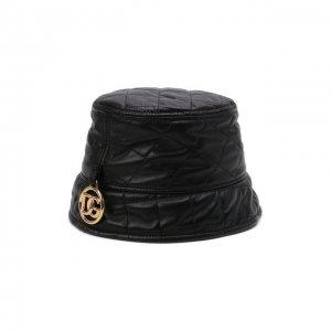Кожаная панама Dolce & Gabbana. Цвет: чёрный