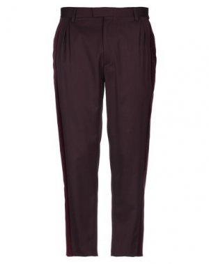 Повседневные брюки JUST CAVALLI. Цвет: баклажанный