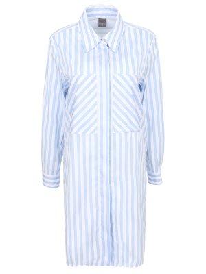 Рубашка-туника из хлопка Lorena Antoniazzi. Цвет: разноцветный