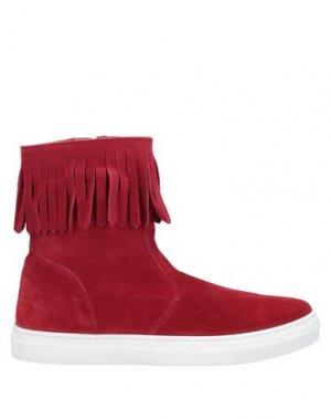 Полусапоги и высокие ботинки EUREKA. Цвет: красный
