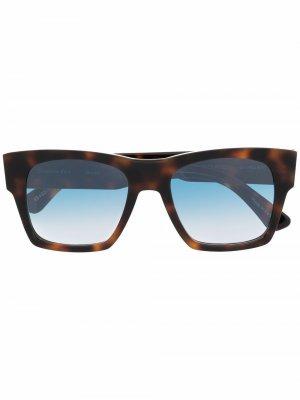 Солнцезащитные очки Droner в квадратной оправе Christian Roth. Цвет: коричневый