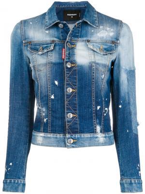 Джинсовая куртка с эффектом потертости Dsquared2