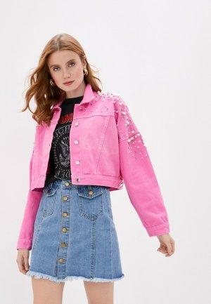 Куртка джинсовая Bad Queen. Цвет: розовый