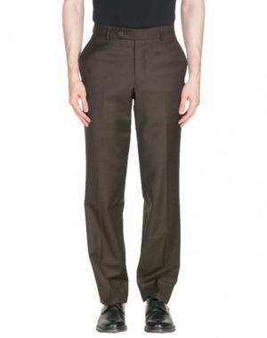 Повседневные брюки BROOKS BROTHERS. Цвет: темно-коричневый