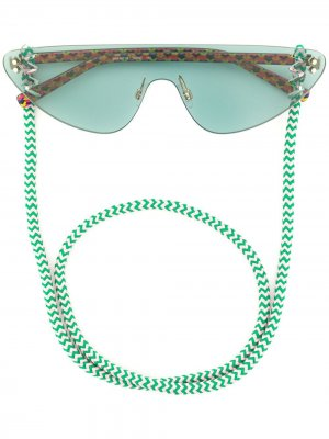 Солнцезащитные очки на шнурке MISSONI EYEWEAR. Цвет: зеленый