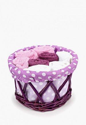 Набор полотенец кухонных Shining Star. Цвет: фиолетовый