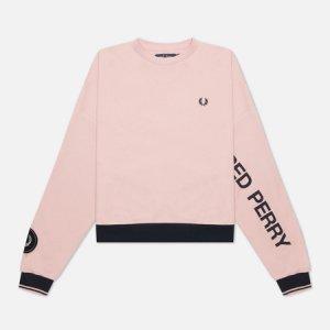 Женская толстовка Bold Branded Fred Perry. Цвет: розовый