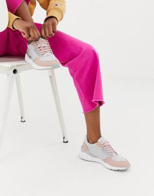 Кроссовки на шнуровке -Серый Blink