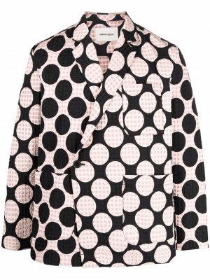 Пиджак с принтом Macaron HENRIK VIBSKOV. Цвет: черный