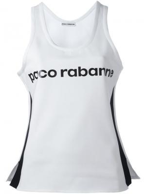 Майка с принтом логотипа Paco Rabanne. Цвет: белый