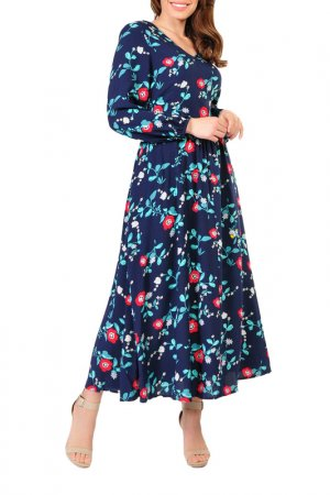 Платье Forus. Цвет: синий, красный
