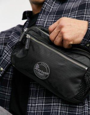 Черный рюкзак из нейлона AC912001-Черный цвет Dr Martens