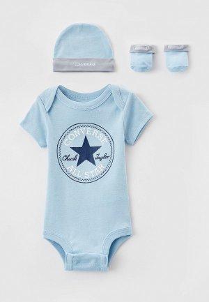 Комплект детский Converse. Цвет: голубой