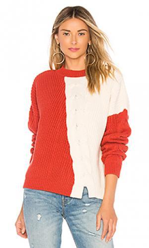 Пуловер austin Tularosa. Цвет: красный