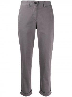 Укороченные брюки чинос кроя слим PS Paul Smith. Цвет: серый