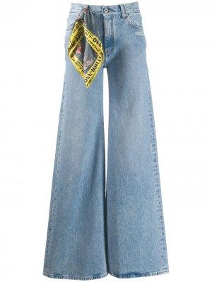 Широкие джинсы средней посадки Off-White. Цвет: синий