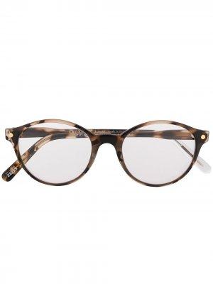 Очки Cicinin в круглой оправе Snob. Цвет: коричневый