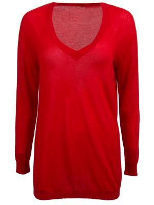 Кашемировый пуловер Malo. Цвет: красный