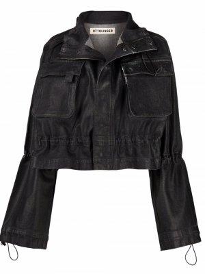 Джинсовая куртка Ottolinger. Цвет: черный