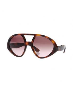Солнечные очки VALENTINO. Цвет: какао
