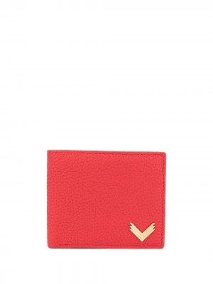 Бумажник с металлическим логотипом Manokhi. Цвет: красный
