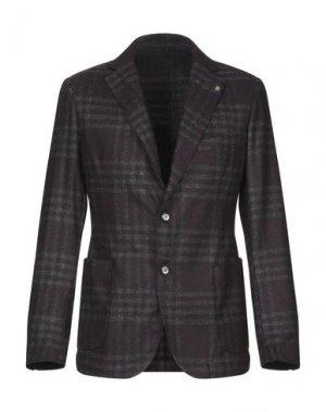 Пиджак EXIGO. Цвет: красно-коричневый